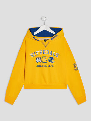 Sweat a capuche Riverdale jaune moutarde fille