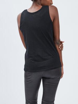 Debardeur bretelles larges noir femme
