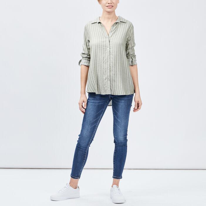 Jeans slim 7/8ème femme denim double stone