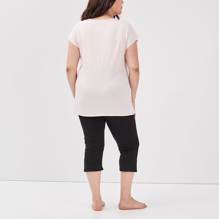 Ensemble pyjama grande taille femme grande taille rose clair