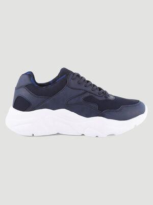 papa shoes doublure imprimee bleu femme
