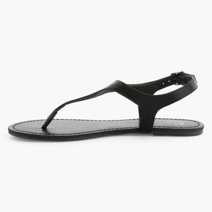 Sandales avec entredoigt femme noir