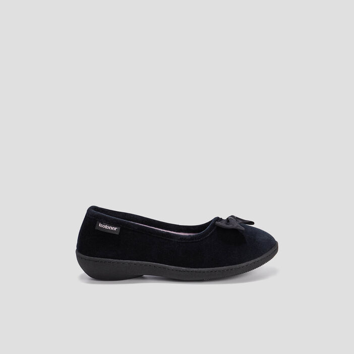 Chaussons ballerines Isotoner  noir