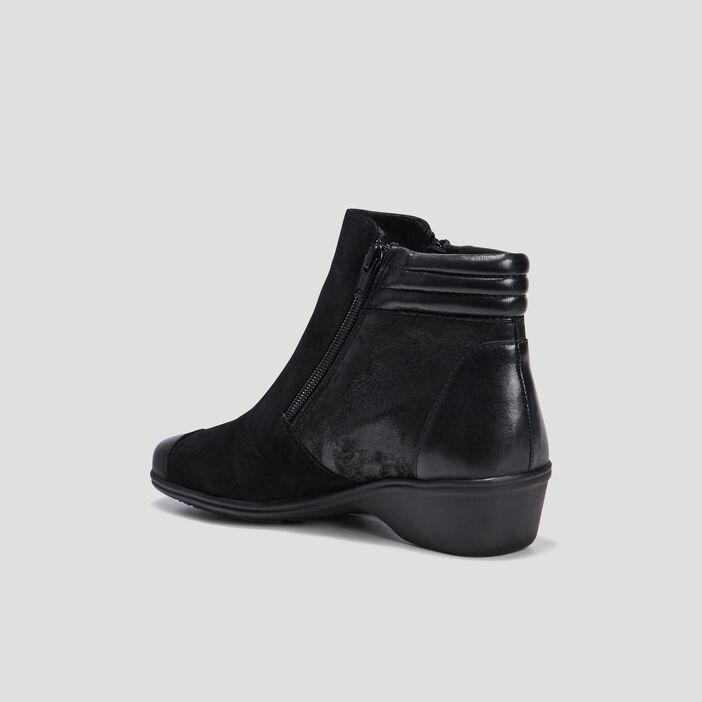 Bottines zippées femme noir