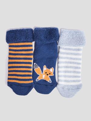 Lot 3 chaussettes bleu marine bebeg