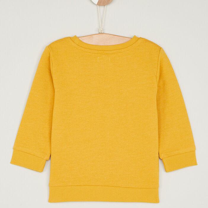 Sweatshirt avec imprimé coton mélangé garçon jaune