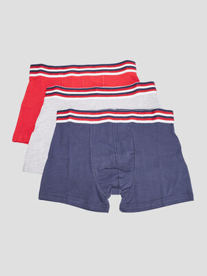 Lot 3 boxers rouge homme