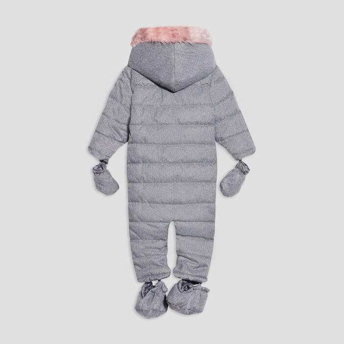Combinaison à capuche bébé fille gris