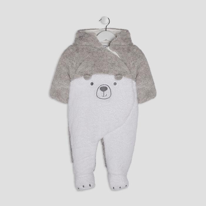 Combinaison à capuche Pat et Ripaton bébé garçon gris