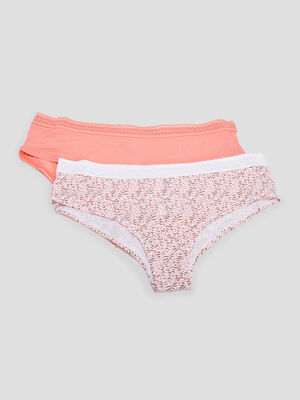 Lot 2 boxers orange corail femme