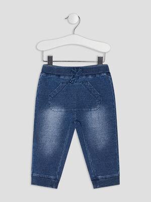 Pantalon droit en jean denim stone bebeg