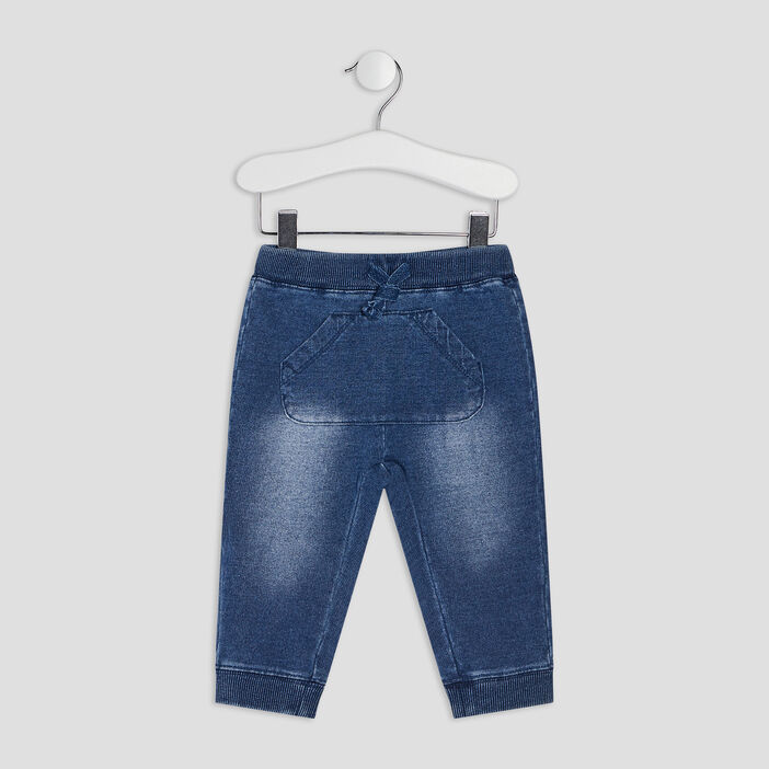 Pantalon droit en jean bébé garçon denim stone