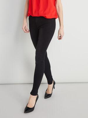 Jean skinny 5 poches uni noir femme
