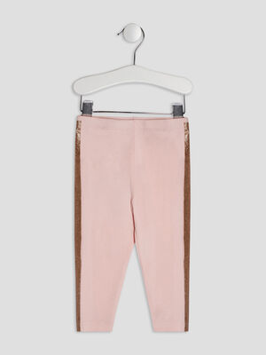 Pantalon legging rose clair bebef