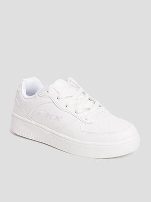 Tennis Skechers blanc garcon