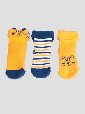 Lot 3 paires chaussettes jaune moutarde bebeg