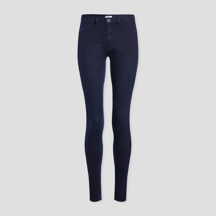 Jeans skinny taille basse femme denim blue black
