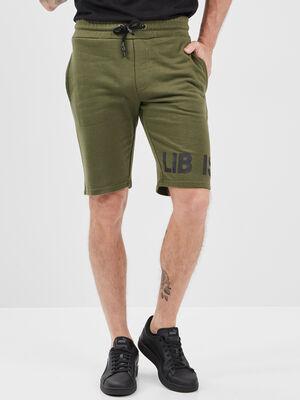 Bermuda droite Liberto vert kaki homme