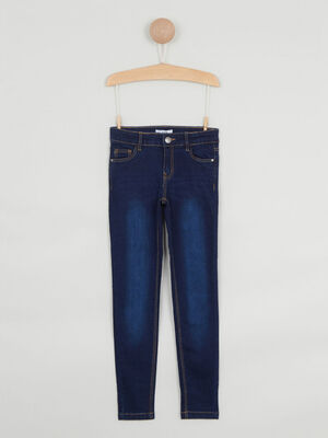 Jeans skinny effet delave denim brut fille