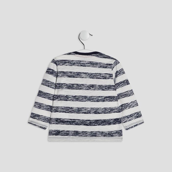 T-shirt manches longues Creeks bébé garçon ecru