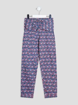 Pantalon droit multicolore fille