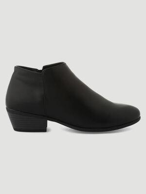 Low boots zippees noir femme