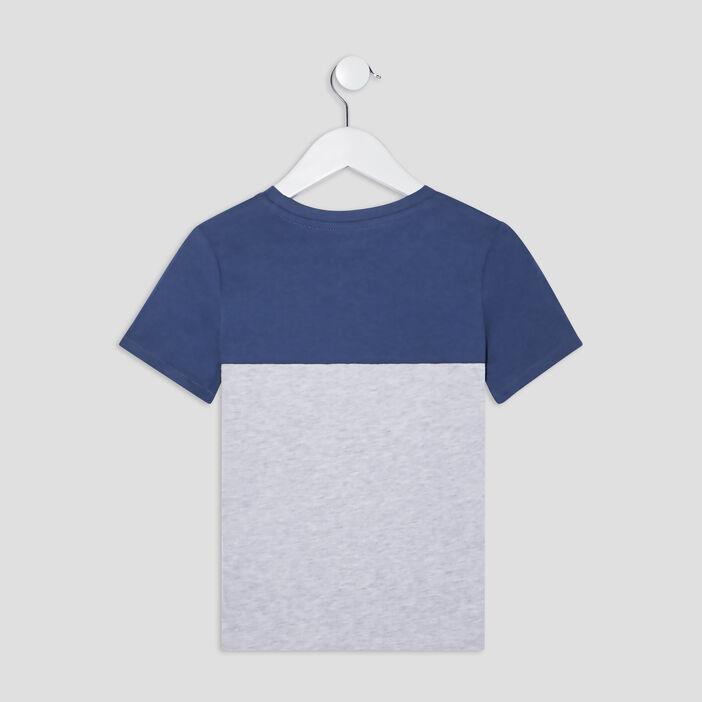 T-shirt manches courtes garçon bleu gris