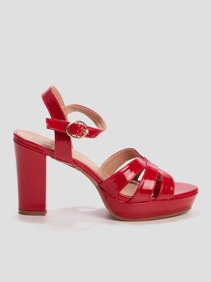 Sandales vernies Mosquitos rouge femme