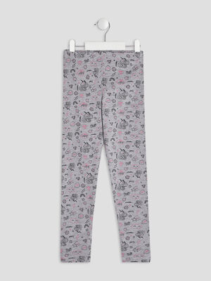 Leggings gris fille