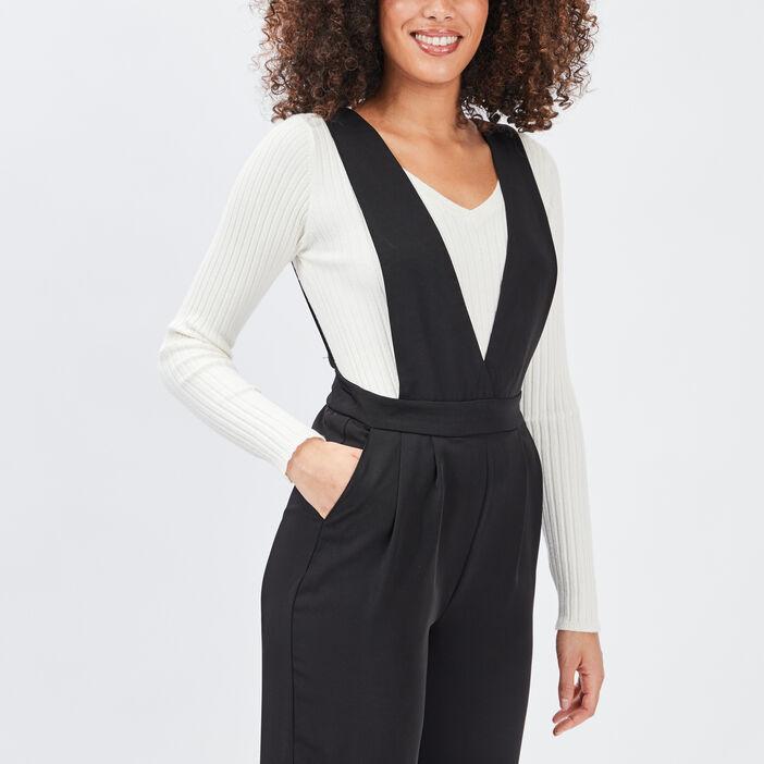 Combinaison pantalon ample femme noir