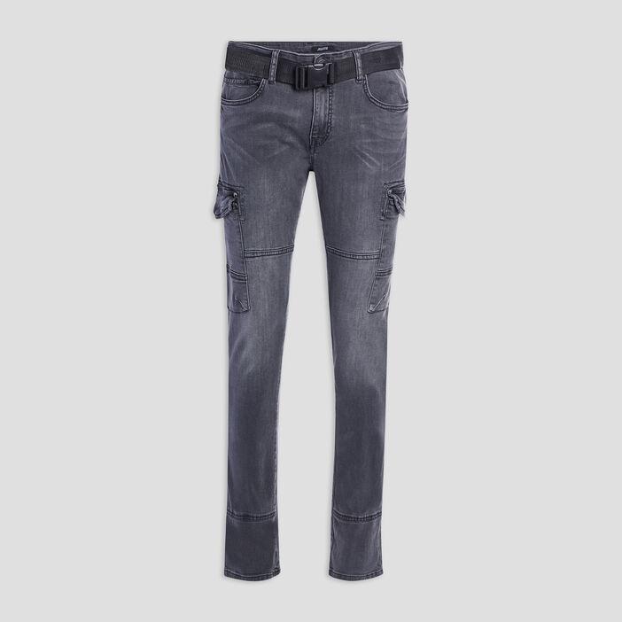 Jeans slim Liberto homme gris fonce