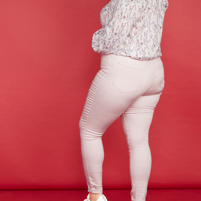 Jegging uni grande taille femme rose clair