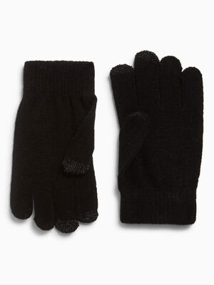 gants magiques tactiles noir mixte