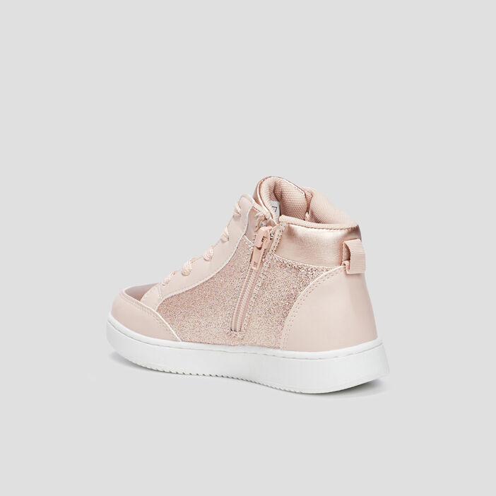 Baskets montantes fille rose