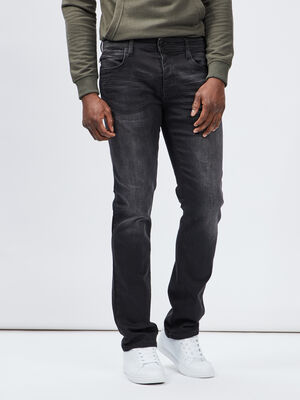 Jeans straight noir homme