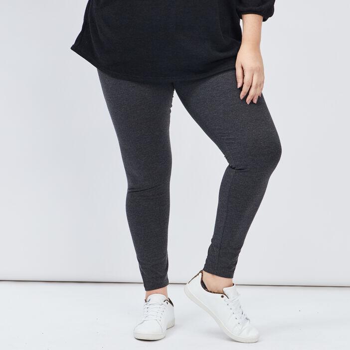 Leggings femme grande taille gris foncé