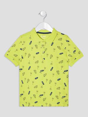 Polo manches courtes jaune garcon