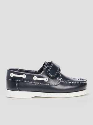 Chaussures bateau bleu marine garcon