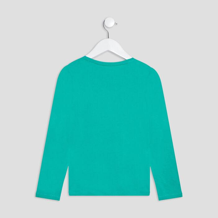 T-shirt manches longues fille vert