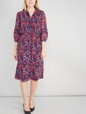 Robe evasee imprime multicolore multicolore femme