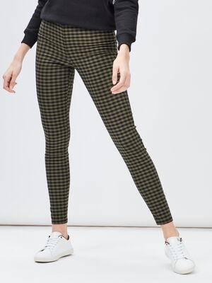 Pantalon legging vert kaki femme