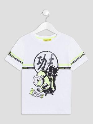 T shirt Les Minions blanc garcon
