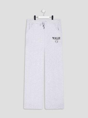 Pantalon large YALE gris clair fille