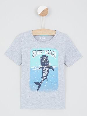 T shirt avec imprime place gris garcon