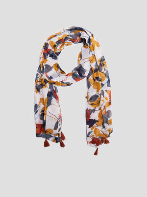 Foulard a pampilles multicolore femme