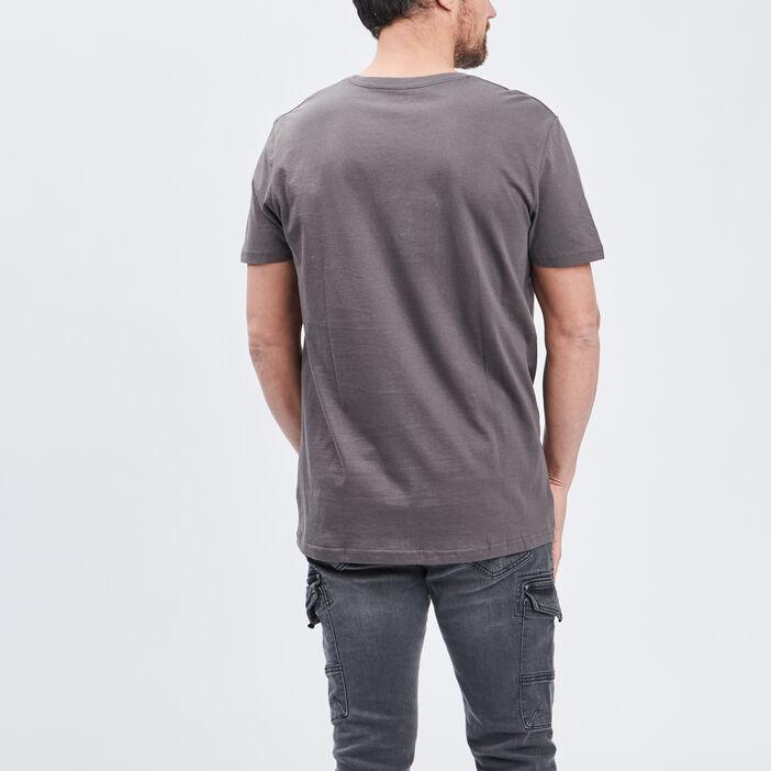 T-shirt manches courtes homme gris foncé