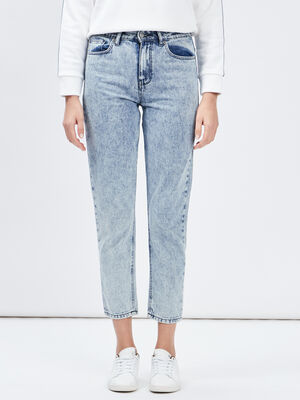 Jeans mom 78eme denim bleach femme