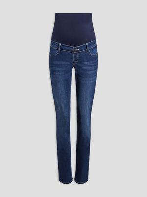 Jeans straight grossesse denim brut femme