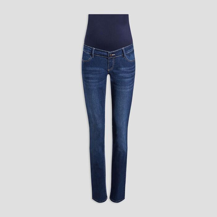 Jeans straight grossesse femme denim brut