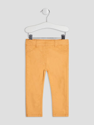 Pantalon slim jaune moutarde bebef